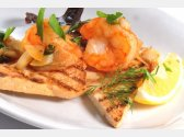 Tiger Shrimps with Garlic Butter, Dill and Toast