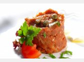 """""""Tartare"""" of Beef Sirloin with Fried Bread"""