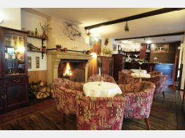 Tarouca Restaurant - sitting by the fireplace and the bar